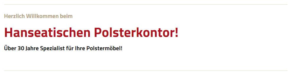 Polster in Bardowick - Hanseatisches Polsterkontor: Möbelreparatur, Lederreparatur, Möbel Sonderanfertigung, ..